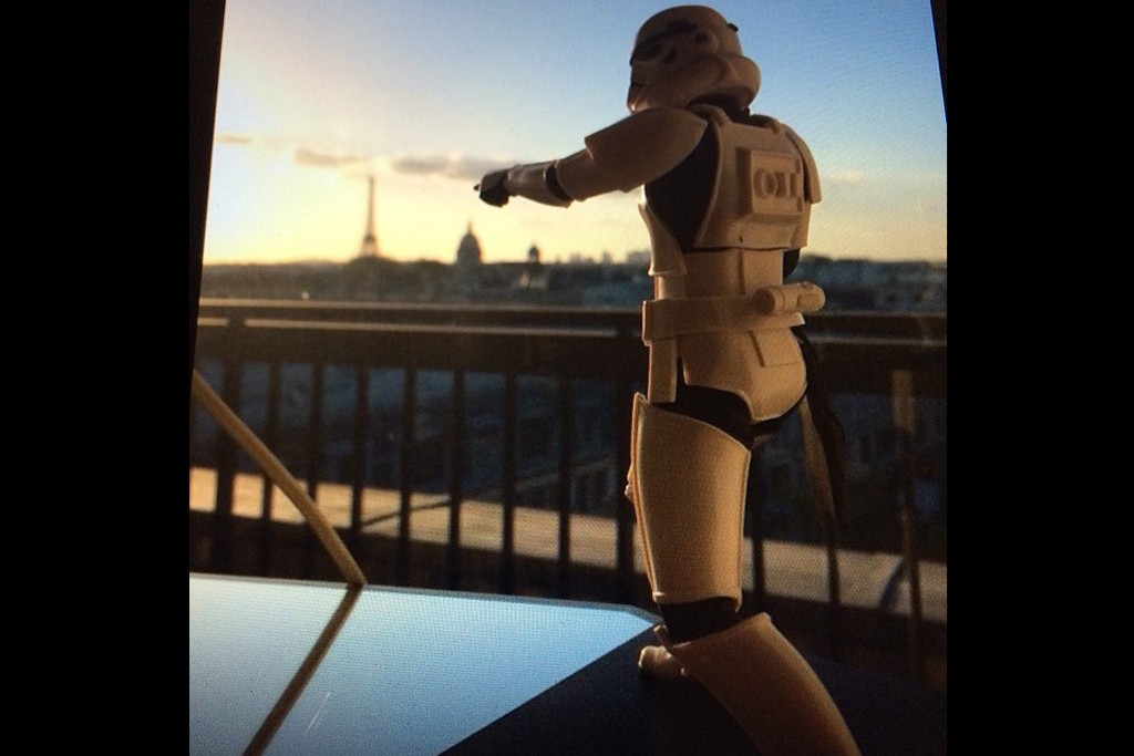 A Stormtrooper figurine features in an Instagram snap posted by Nicolas Ghesquière.