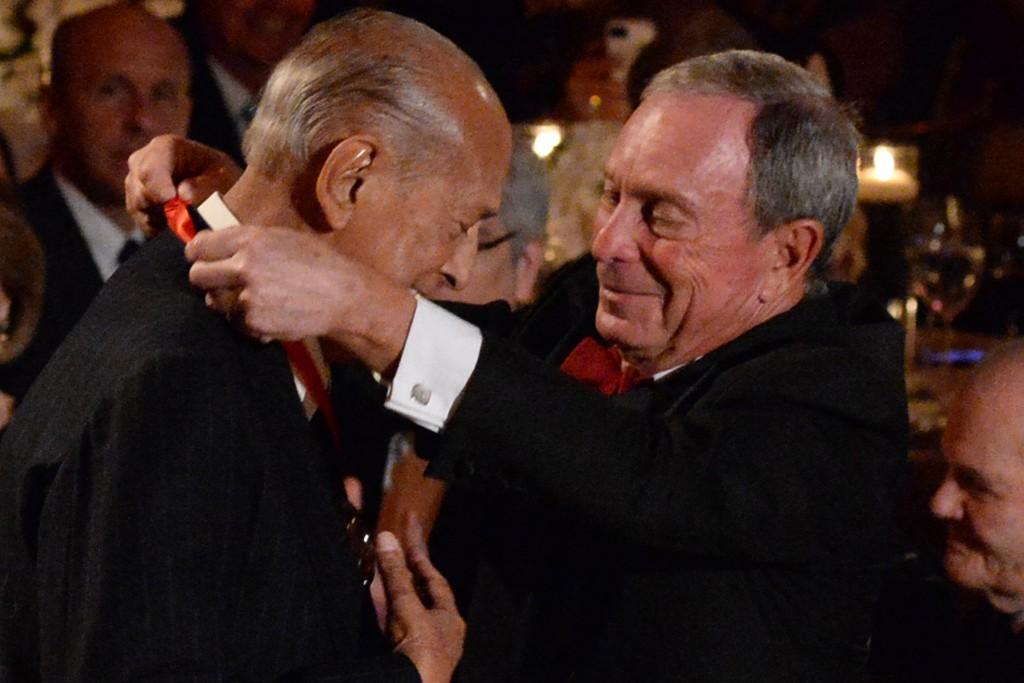 Oscar de la Renta and Michael Bloomberg
