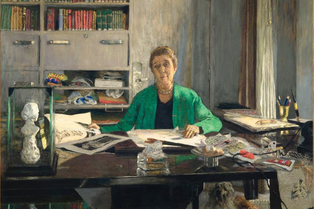 Portrait of Jeanne Lanvin by Edouard Vuillard.