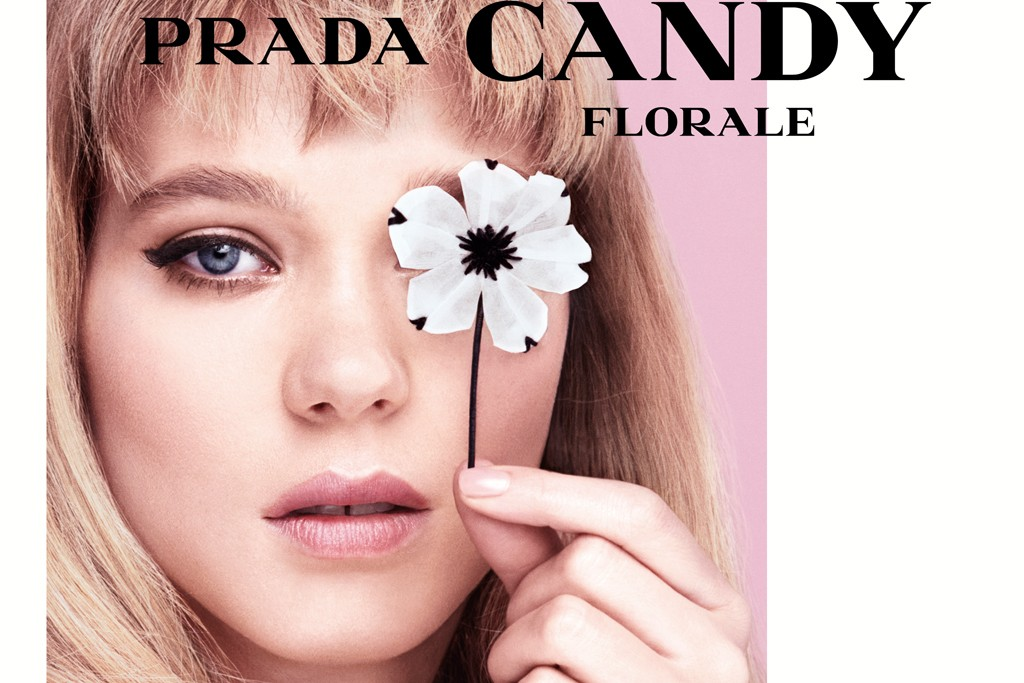 The Prada Candy Florale fragrance.