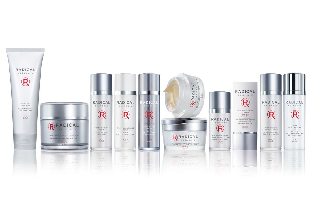 Products from the Radical Skincare line.