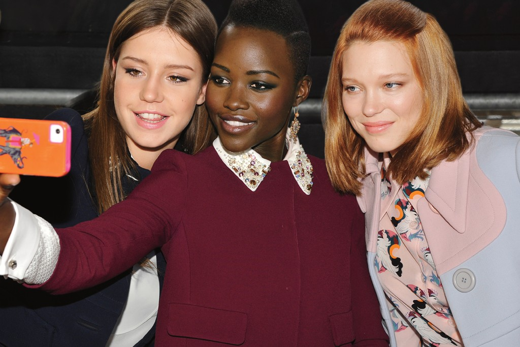 Adèle Exarchopoulos, Lupita Nyong'o and Léa Seydoux get snappy.