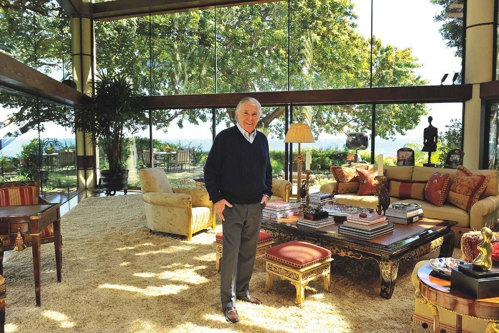 Sidney Kimmel at his Malibu home.