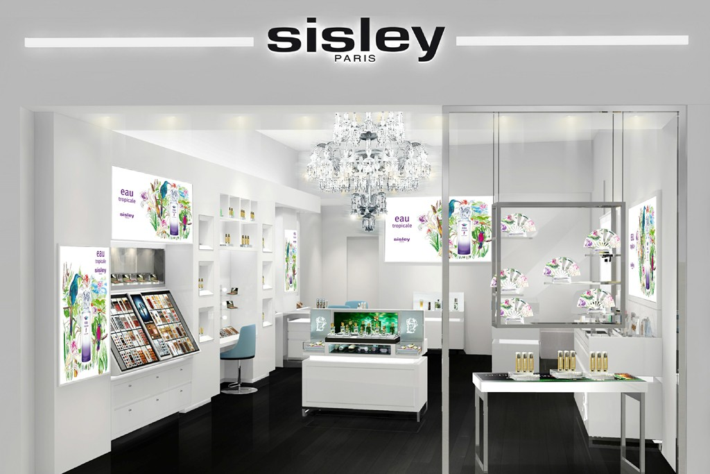 A rendering of the Sisley boutique for The Shops at Crystals, in Las Vegas.