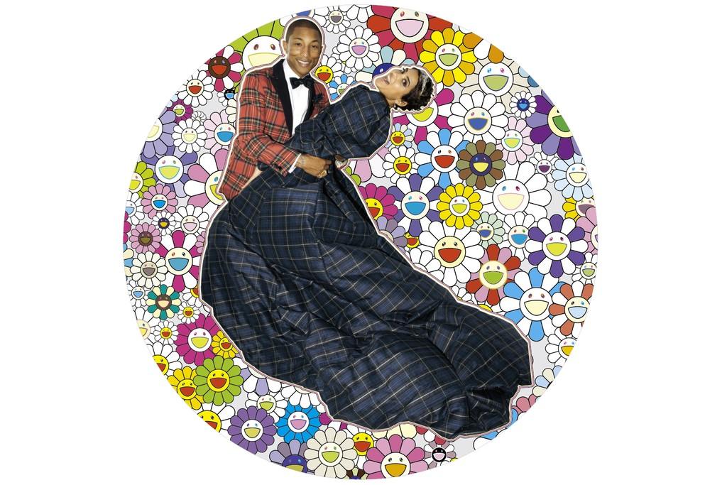 Takashi Murakami, Portrait of Pharrell and Helen, Dance, 2014.