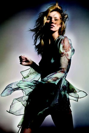 Kate Moss in one of the looks from her Kate Moss for Topshop collection.