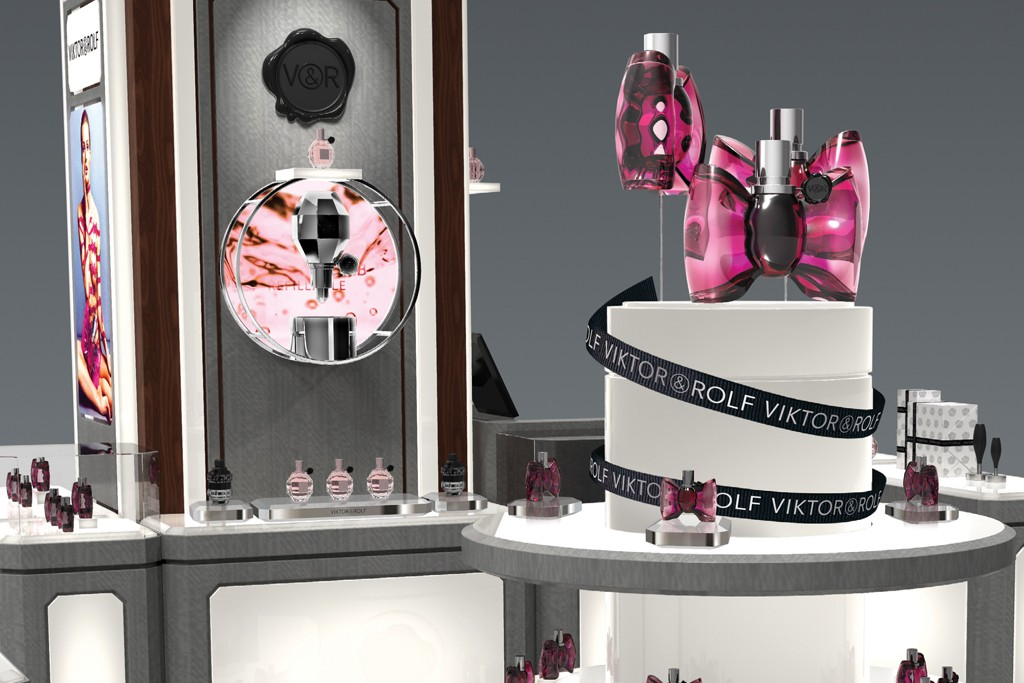 A rendering of the Viktor & Rolf shop at Saks.