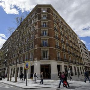 The Zara Madrid store features a late-19th-century Castillian facade.