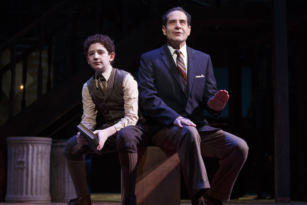 "Matthew Schechter and Tony Shalhoub in ""Act One."""