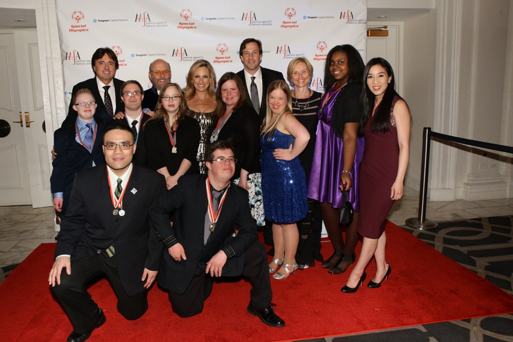 Honorees, guests and Special Olympians.
