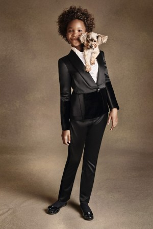 Quvenzhané Wallis in the Armani Junior fall ad campaign, photographed by Stefano Azario.