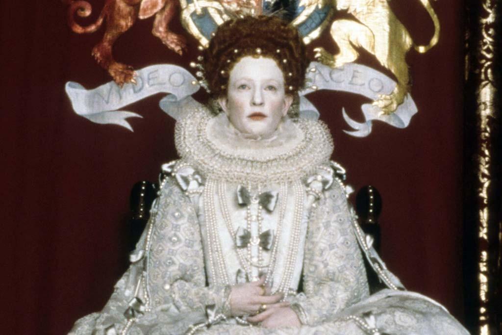 Cate Blanchett in a scene from ''Elizabeth.''