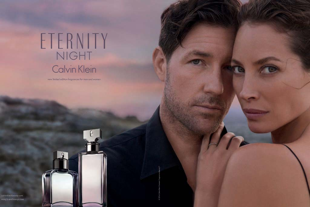 Ed Burns and Christy Turlington Burns in the Eternity Night campaign.