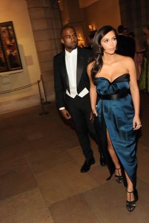 Kanye West and Kim Kardashian, both in Lanvin.