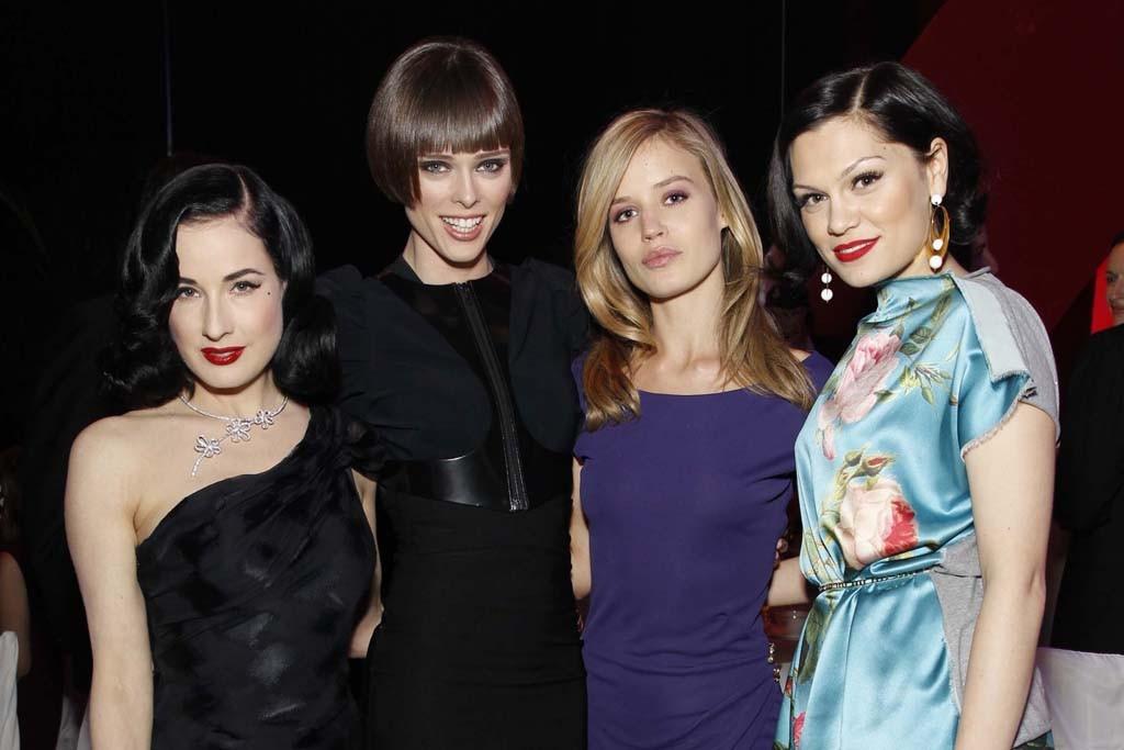 Dita Von Teese, Coco Rocha, Georgia May Jagger and Jessie J.