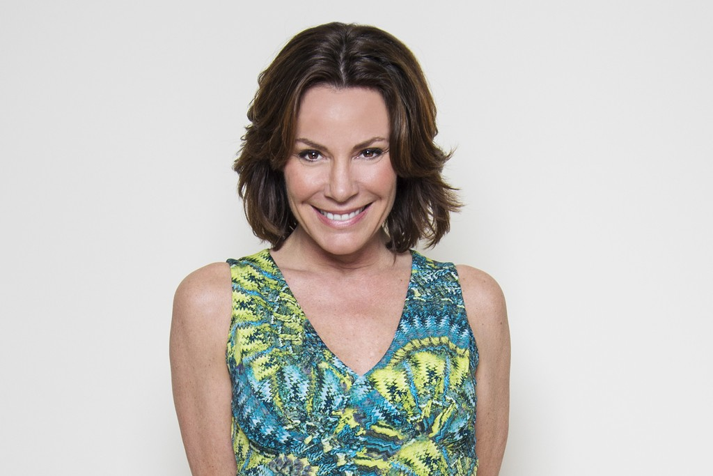 Countess LuAnn de Lesseps in one of her dresses from the collection.