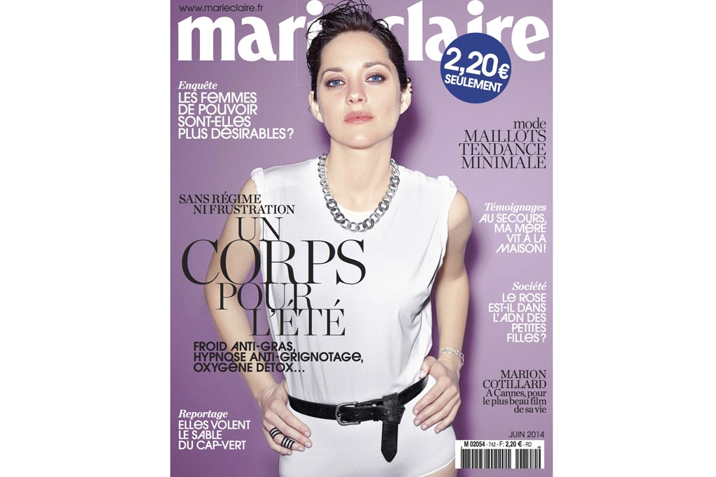 The cover of the June issue of Marie Claire