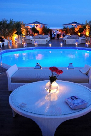 The scene at the dinner hosted by Dior and Elle in Cannes last year.