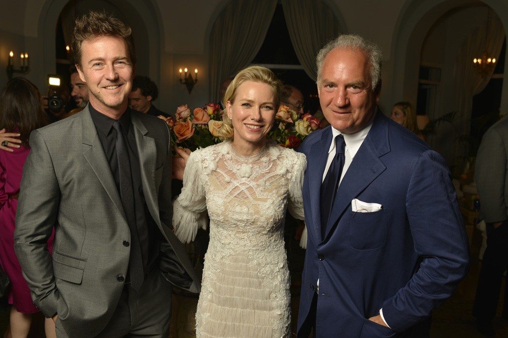 Edward Norton, Naomi Watts and Charles Finch.