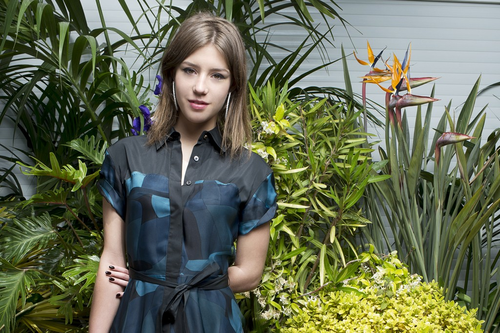 Adele Exarchopoulos is Louis Vuitton and Chopard jewelry.