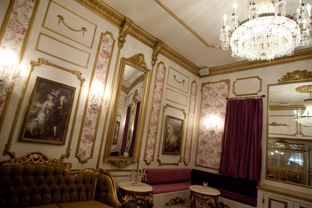 The Marie Antoinette room at Dear Irving.