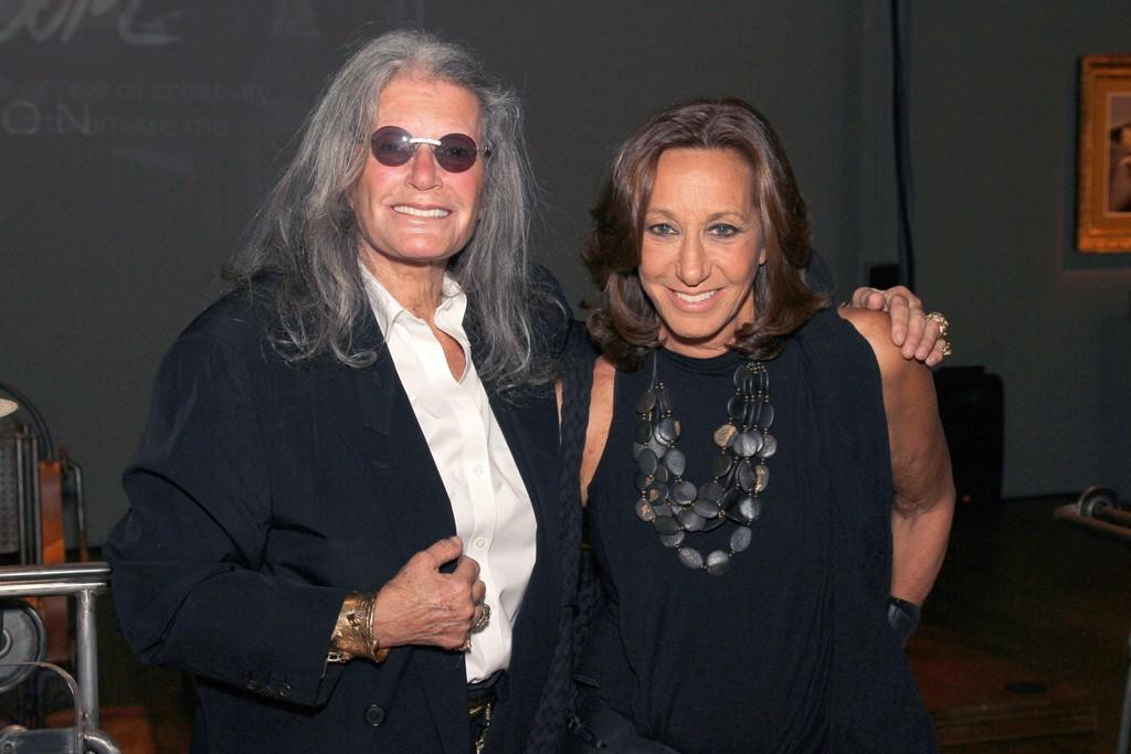 Ilana Goor and Donna Karan.