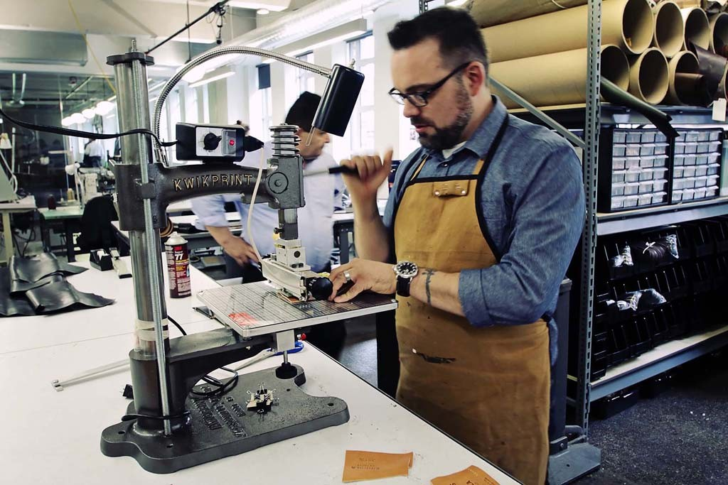 Inside Shinola's first leather factory in Detroit.
