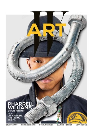 The cover of W featuring Pharrell.