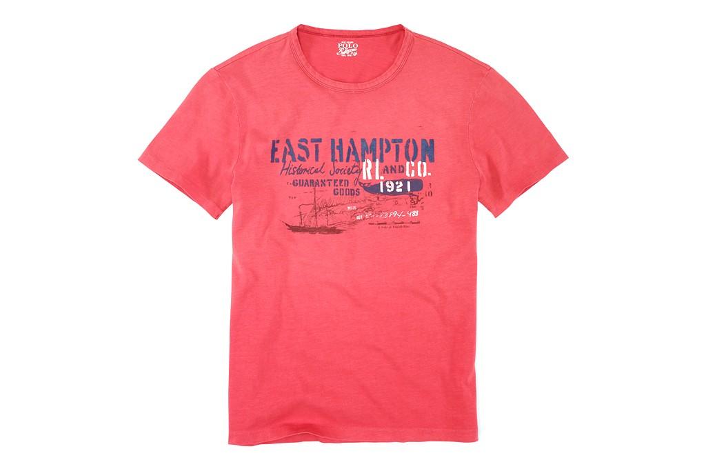 A T-shirt from Ralph Lauren's East Hampton Historical Collection.