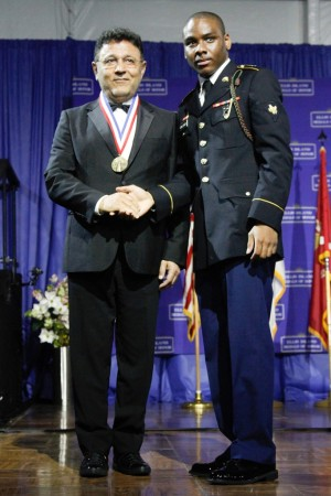 Elie Tahari receiving his medal.