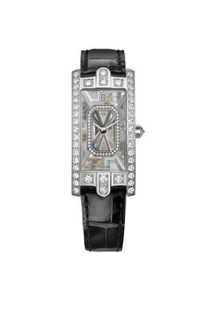 Harry Winston Avenue C Precious Marquetry watch.