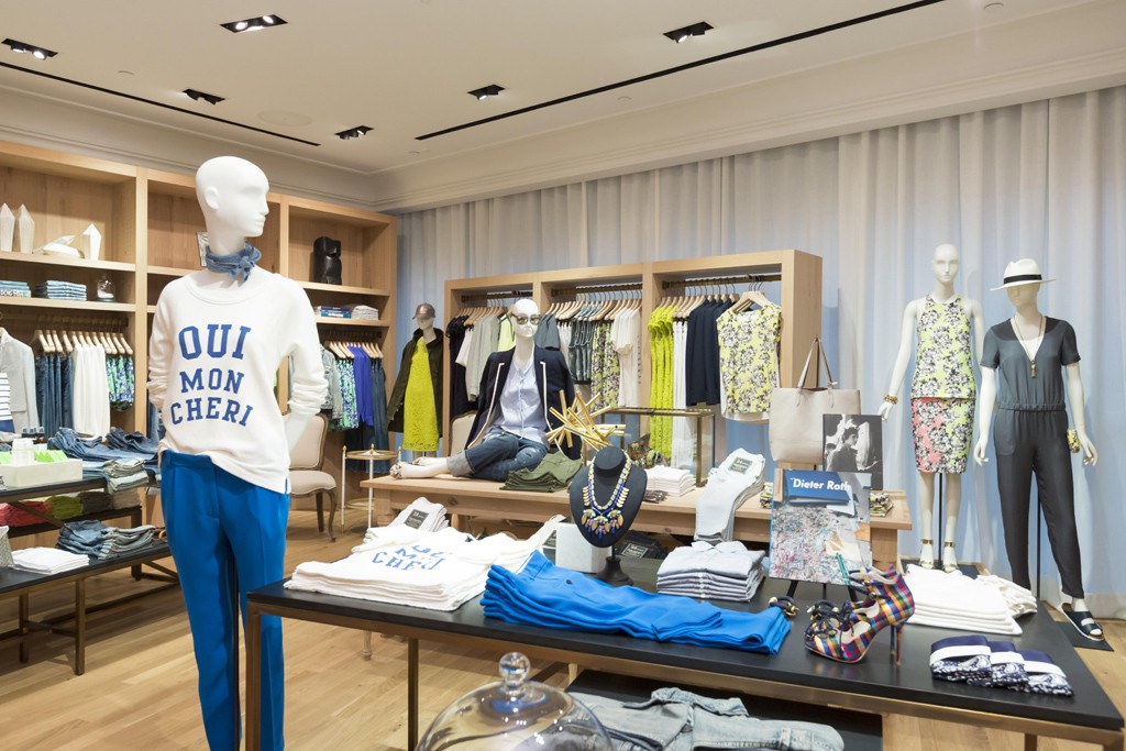 A view of the J. Crew store in the the IFC Mall in Hong Kong.