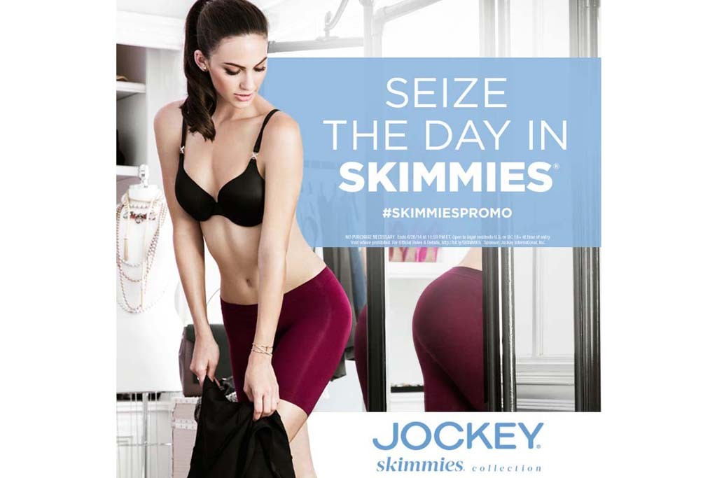 """Marketing images of Jockey's """"Seize the Day in Skimmies"""" campaign."""