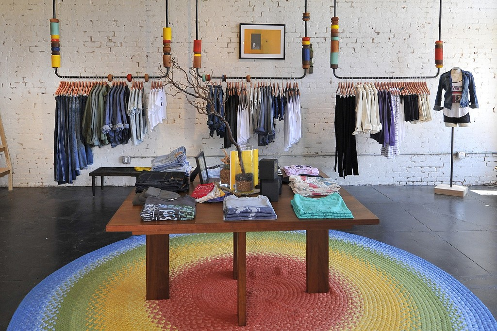 Inside the Junk Food Clothing store on Abbot Kinney Boulevard in Los Angeles.