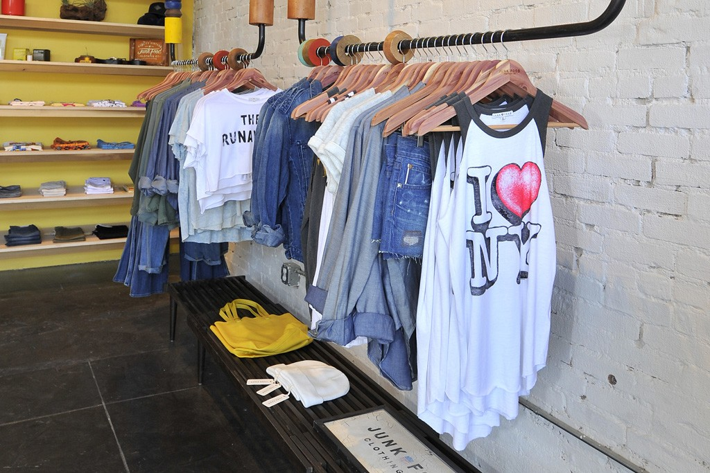 A display at Junk Food Clothing's store on Abbot Kinney Boulevard in Los Angeles.