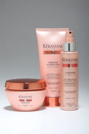 Select items from Kérastase's Discipline.