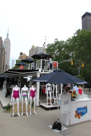 The Lands' End beach house in New York's Flatiron Plaza.