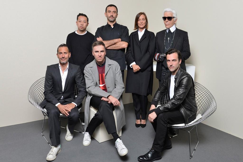 The designer jury: Marc Jacobs, Humberto Leon, Raf Simons, Riccardo Tisci, Phoebe Philo, Karl Lagerfeld and Nicolas Ghesquière.