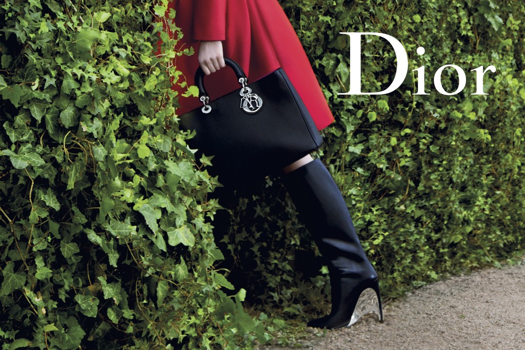 "An ad from the third installment in Dior's  ""Secret Garden"" series."