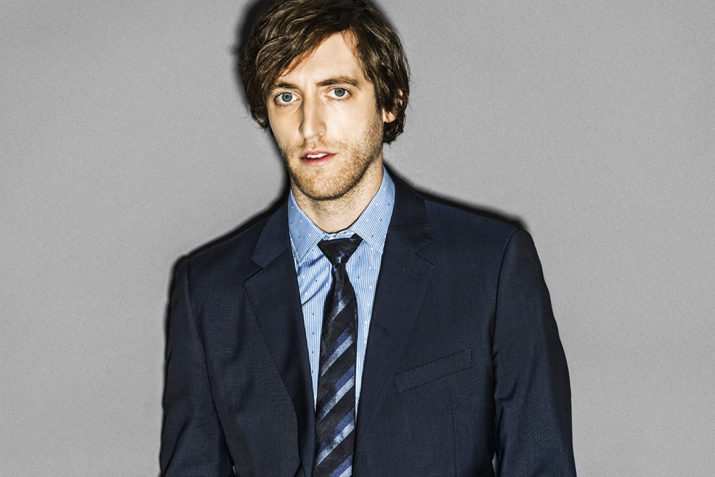 Calvin Klein Collection's wool suit and Band of Outsiders' shirt. Burberry London tie; Bottega Veneta belt.