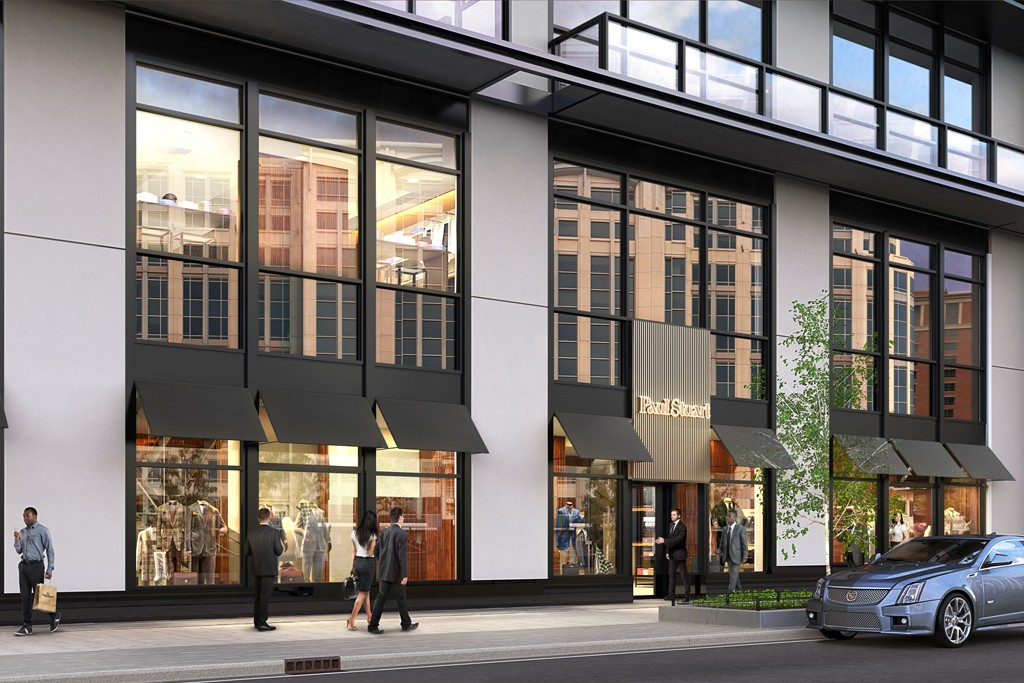 A rendering of the Paul Stuart store in Washington, D.C.