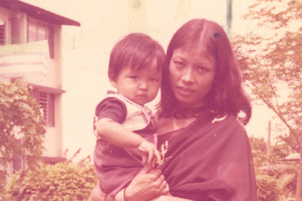 Prabal Gurung as a baby with his mother and siblings, 1970s.