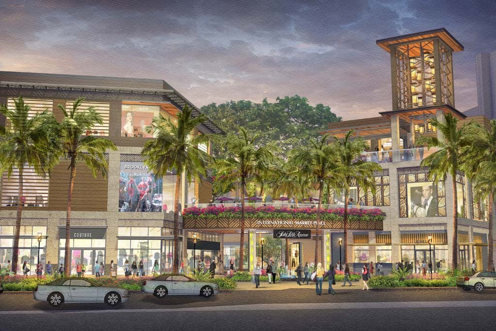 A rendering of Taubman's International Marketplace in Waikiki.