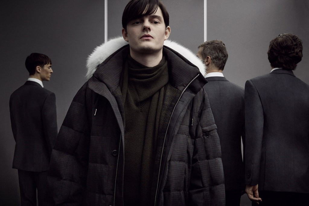 Sam Riley for Ermenegildo Zegna Couture, photographed by Inez van Lamsweerde and Vinoodh Matadin.