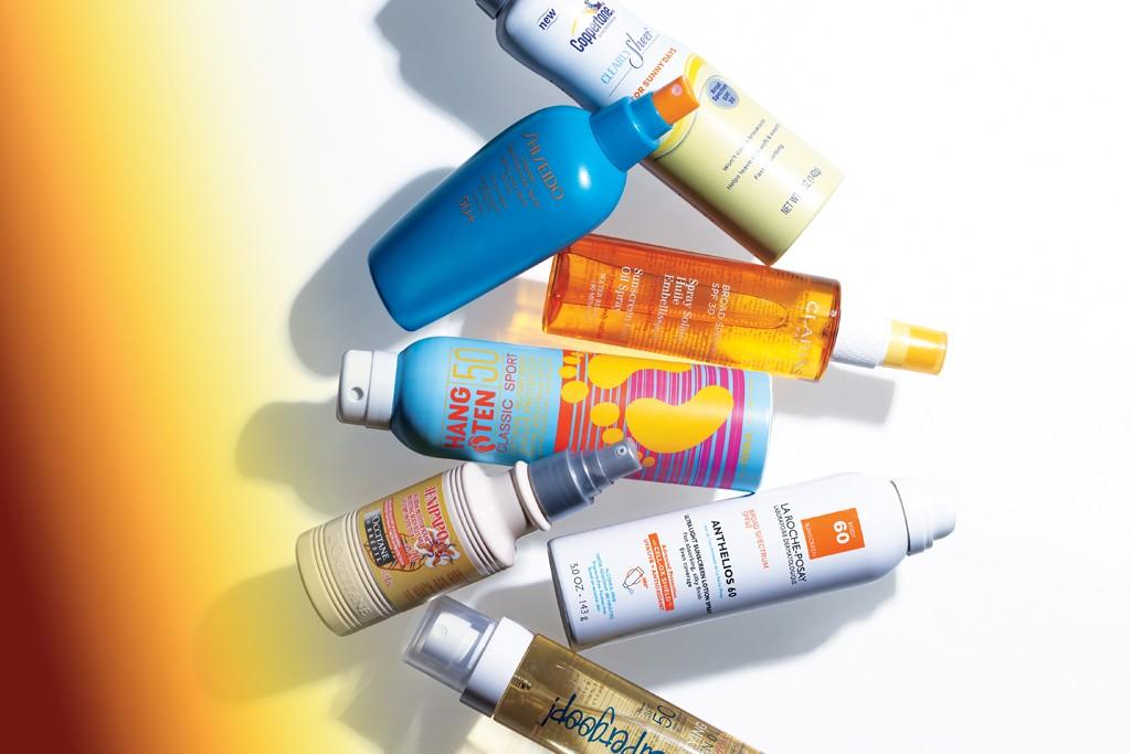 Coppertone, Clarins, La Roche-posay, Supergoop!, L'Occitane, Hang Ten and Shiseido.