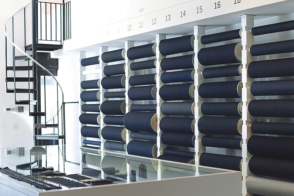 In its New York store, 3x1 offers 80 different rolls of selvage denim.