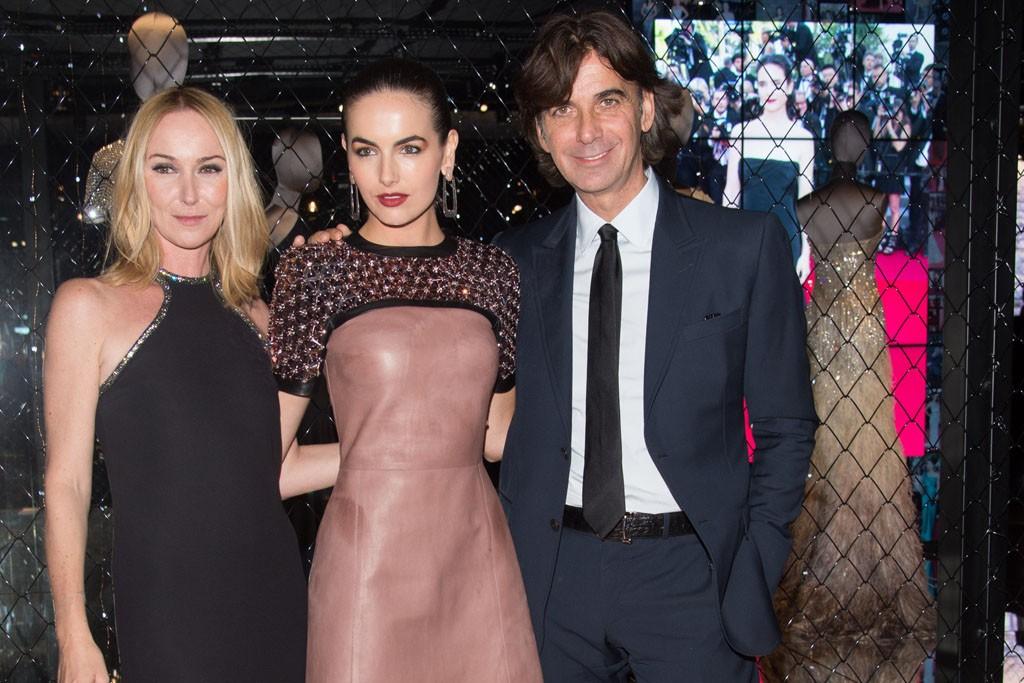Frida Giannini, Camilla Belle and Patrizio di Marco.