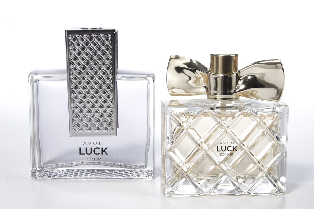 Avon's Luck for Her and Luck for Him fragrances.