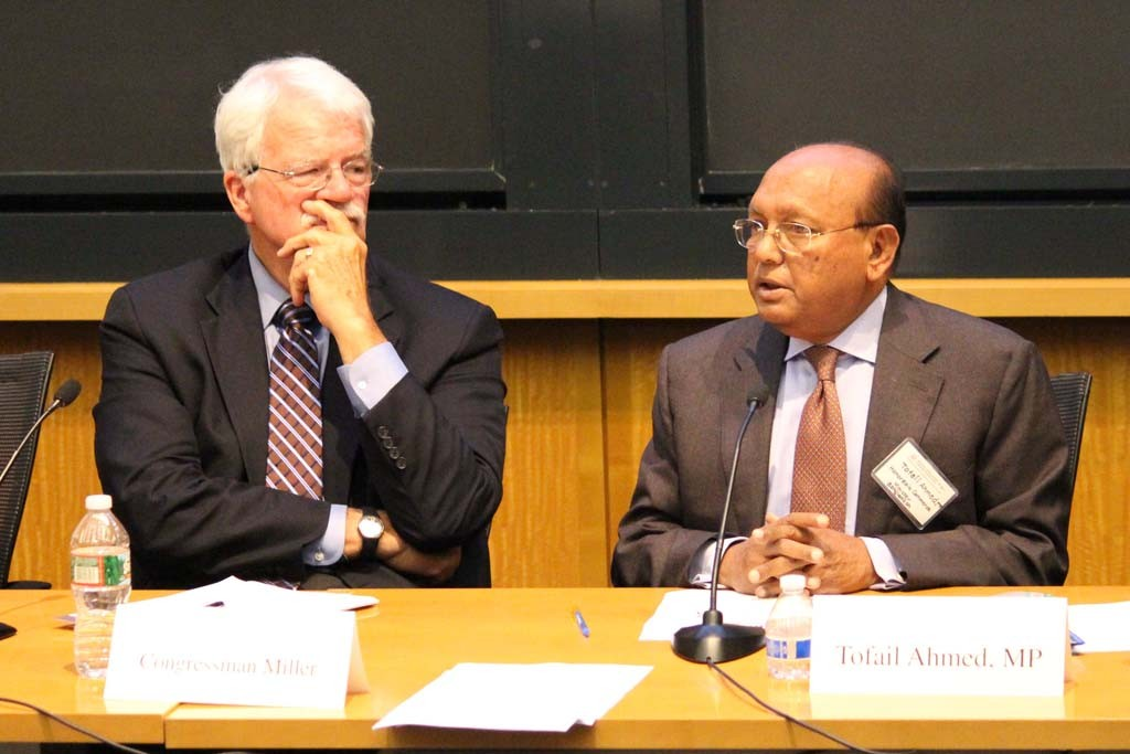 Congressman George Miller (D. Calif.) and Bangladesh Commerce Minister Tofail Ahmed.