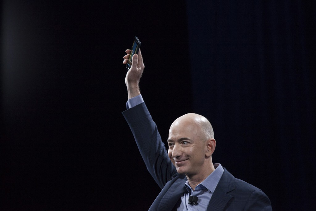 Jeff Bezos introducing the Fire.